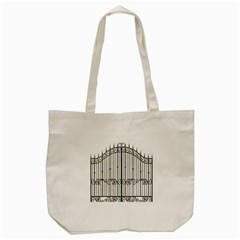 Inspirative Iron Gate Fence Tote Bag (cream) by Alisyart