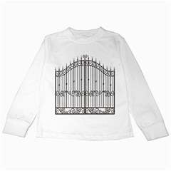 Inspirative Iron Gate Fence Kids Long Sleeve T Shirts