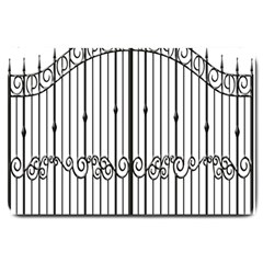 Inspirative Iron Gate Fence Large Doormat  by Alisyart