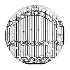 Inspirative Iron Gate Fence Round Filigree Ornament (two Sides) by Alisyart