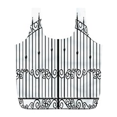 Inspirative Iron Gate Fence Full Print Recycle Bags (l)  by Alisyart