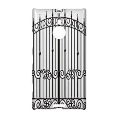 Inspirative Iron Gate Fence Nokia Lumia 1520 by Alisyart