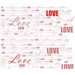 Love Heart Valentine Pink Red Romantic Deluxe Canvas 14  x 11  14  x 11  x 1.5  Stretched Canvas