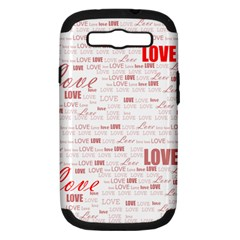 Love Heart Valentine Pink Red Romantic Samsung Galaxy S Iii Hardshell Case (pc+silicone) by Alisyart
