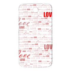 Love Heart Valentine Pink Red Romantic Samsung Galaxy Mega I9200 Hardshell Back Case by Alisyart