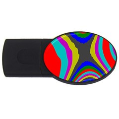 Pattern Rainbow Colorfull Wave Chevron Waves Usb Flash Drive Oval (2 Gb)