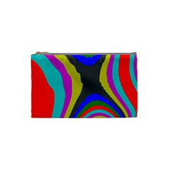 Pattern Rainbow Colorfull Wave Chevron Waves Cosmetic Bag (small)  by Alisyart