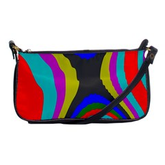 Pattern Rainbow Colorfull Wave Chevron Waves Shoulder Clutch Bags by Alisyart