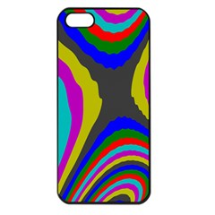 Pattern Rainbow Colorfull Wave Chevron Waves Apple Iphone 5 Seamless Case (black) by Alisyart