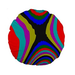 Pattern Rainbow Colorfull Wave Chevron Waves Standard 15  Premium Round Cushions by Alisyart