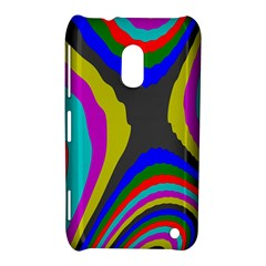Pattern Rainbow Colorfull Wave Chevron Waves Nokia Lumia 620 by Alisyart