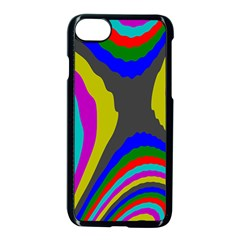 Pattern Rainbow Colorfull Wave Chevron Waves Apple Iphone 7 Seamless Case (black) by Alisyart