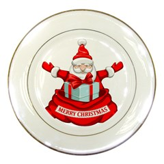 Merry Christmas Santa Claus Porcelain Plates by Alisyart