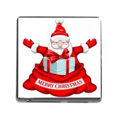 Merry Christmas Santa Claus Memory Card Reader (square) by Alisyart