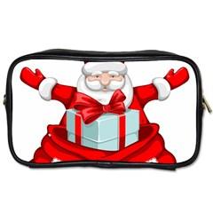 Merry Christmas Santa Claus Toiletries Bags 2 Side by Alisyart