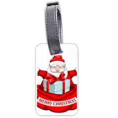 Merry Christmas Santa Claus Luggage Tags (one Side)  by Alisyart