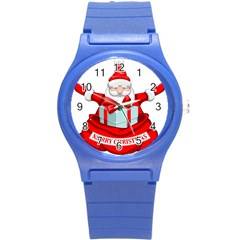 Merry Christmas Santa Claus Round Plastic Sport Watch (s) by Alisyart