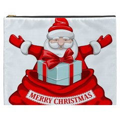 Merry Christmas Santa Claus Cosmetic Bag (xxxl)  by Alisyart