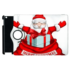 Merry Christmas Santa Claus Apple Ipad 2 Flip 360 Case by Alisyart