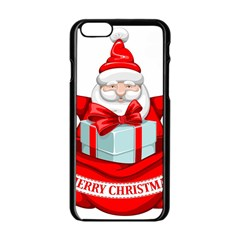 Merry Christmas Santa Claus Apple Iphone 6/6s Black Enamel Case by Alisyart