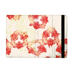Pattern Flower Red Plaid Green Apple Ipad Mini Flip Case by Alisyart