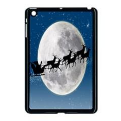 Santa Claus Christmas Fly Moon Night Blue Sky Apple Ipad Mini Case (black) by Alisyart