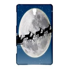 Santa Claus Christmas Fly Moon Night Blue Sky Samsung Galaxy Tab S (8 4 ) Hardshell Case  by Alisyart