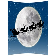 Santa Claus Christmas Fly Moon Night Blue Sky Back Support Cushion by Alisyart