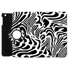 Psychedelic Zebra Pattern Black Apple Ipad Mini Flip 360 Case by Alisyart