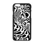 Psychedelic Zebra Pattern Black Apple iPhone 6/6S Black Enamel Case Front