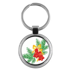 New Year Christmas Bells Tree Key Chains (round)  by Alisyart