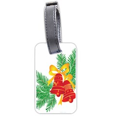 New Year Christmas Bells Tree Luggage Tags (two Sides) by Alisyart