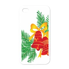 New Year Christmas Bells Tree Apple Iphone 4 Case (white) by Alisyart