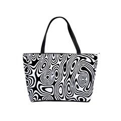 Psychedelic Zebra Black Circle Shoulder Handbags by Alisyart