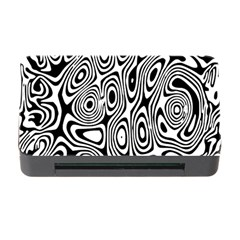 Psychedelic Zebra Black Circle Memory Card Reader With Cf by Alisyart