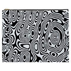 Psychedelic Zebra Black Circle Cosmetic Bag (xxxl)  by Alisyart