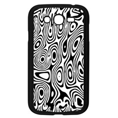 Psychedelic Zebra Black Circle Samsung Galaxy Grand Duos I9082 Case (black) by Alisyart