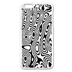 Psychedelic Zebra Black Circle Apple Iphone 6 Plus/6s Plus Enamel White Case by Alisyart