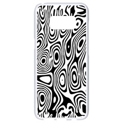Psychedelic Zebra Black Circle Samsung Galaxy S8 White Seamless Case by Alisyart