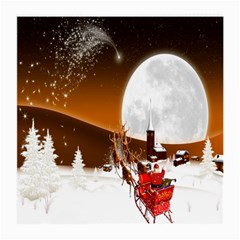 Santa Claus Christmas Moon Night Medium Glasses Cloth