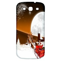 Santa Claus Christmas Moon Night Samsung Galaxy S3 S Iii Classic Hardshell Back Case by Alisyart