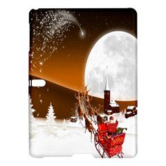 Santa Claus Christmas Moon Night Samsung Galaxy Tab S (10 5 ) Hardshell Case  by Alisyart
