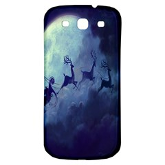 Santa Claus Christmas Night Moon Happy Fly Samsung Galaxy S3 S Iii Classic Hardshell Back Case by Alisyart