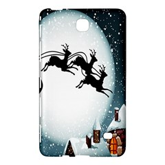 Santa Claus Christmas Snow Cool Night Moon Sky Samsung Galaxy Tab 4 (8 ) Hardshell Case  by Alisyart
