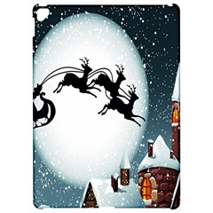 Santa Claus Christmas Snow Cool Night Moon Sky Apple Ipad Pro 12 9   Hardshell Case by Alisyart