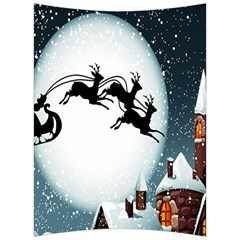 Santa Claus Christmas Snow Cool Night Moon Sky Back Support Cushion