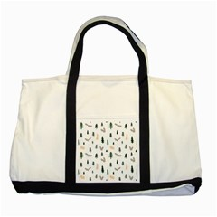 Squirrel Rabbit Tree Animals Snow Two Tone Tote Bag