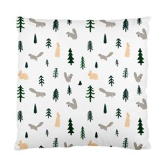 Squirrel Rabbit Tree Animals Snow Standard Cushion Case (two Sides)