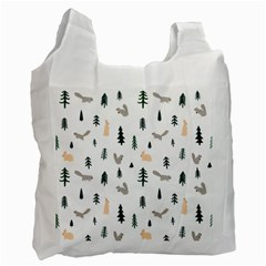 Squirrel Rabbit Tree Animals Snow Recycle Bag (two Side)