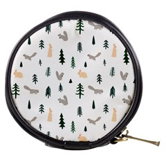 Squirrel Rabbit Tree Animals Snow Mini Makeup Bags